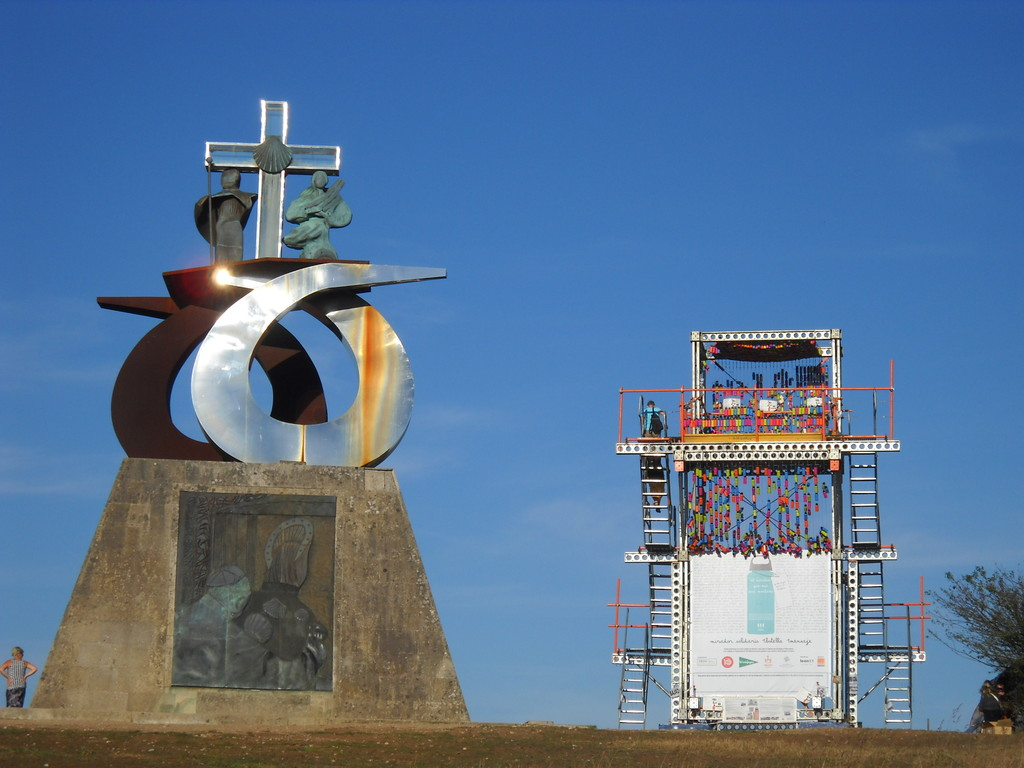 MONUMENTO FUNDADO POR JUAN PABLO II EN EL MONTE DO GOZO