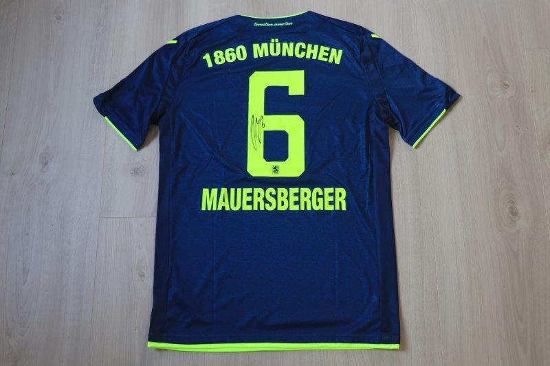 TSV 1860 München 2018/19 Auswärts mit Autogramm, Nr. 6 Mauersberger (Matchworn gg. SV Viktoria Aschaffenburg 30.04.19)