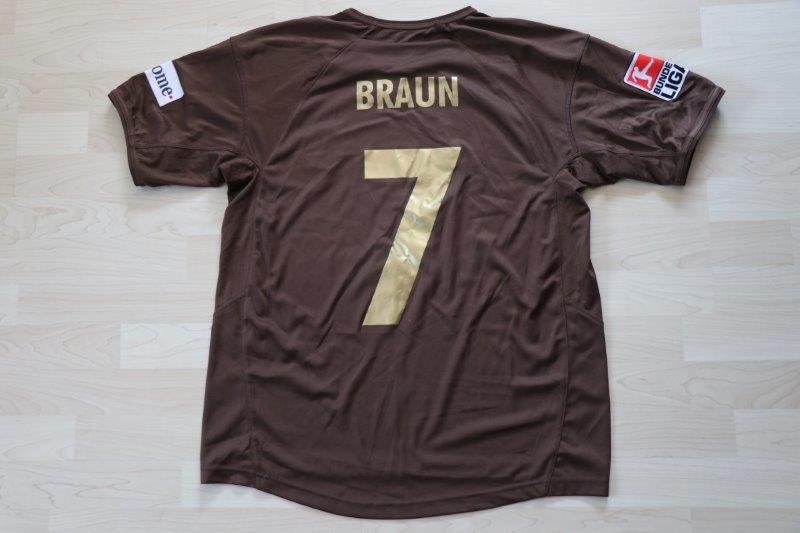 FC St. Pauli 2007/08 Heim, Nr. 7 Braun (Matchworn)