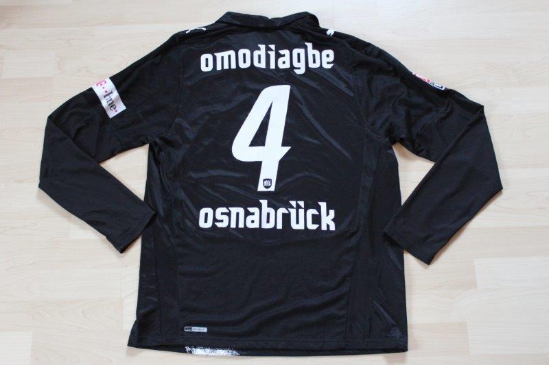 VfL Osnabrück 2008/09 Away Langarm, Nr. 4 Omodiagbe (Matchworn)
