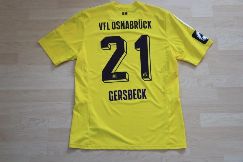 VfL Osnabrück 2016/17 Torwart, Nr. 21 Gersbeck (Matchworn, 7.8.2016 gg. Duisburg)