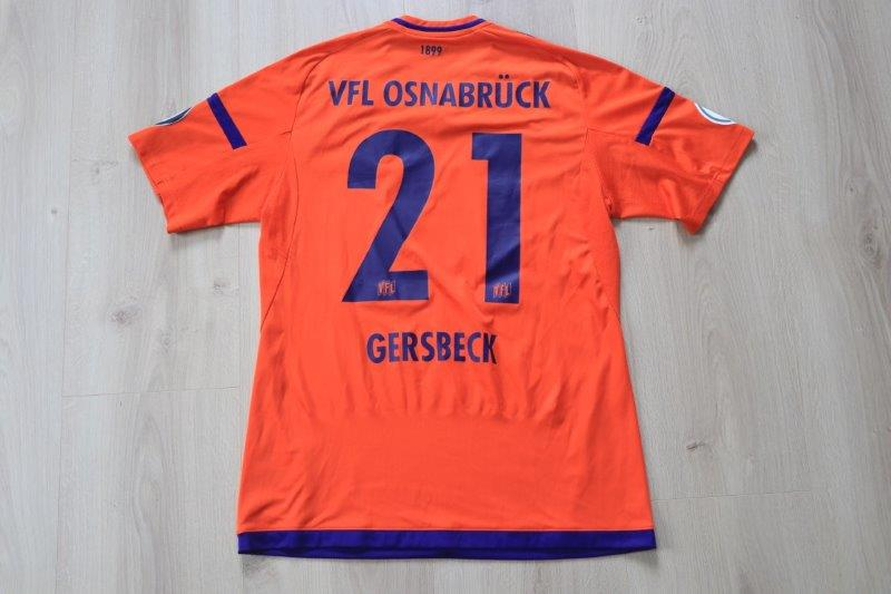 VfL Osnabrück 2017/18 Torwart, Nr. 21 Gersbeck (Matchworn DFB-Pokal gg. Nürnberg 25.10.17)