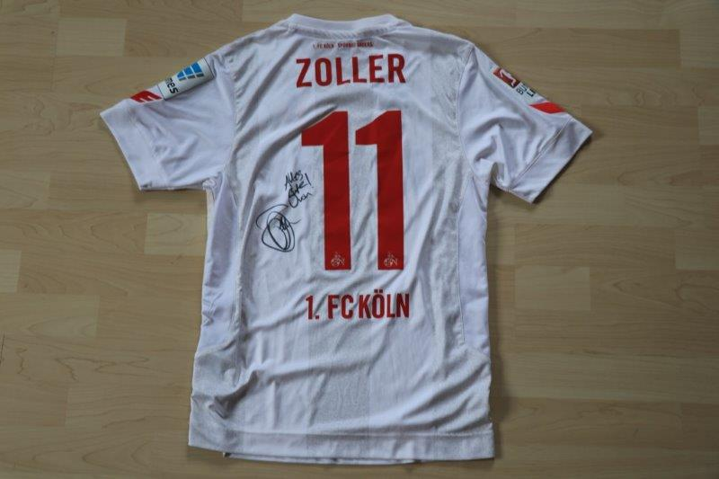 1. FC Köln 2016/17 Heim mit Autogramm, Nr. 11 Zoller (Matchworn evtl. gg Augsburg 26.11.16)