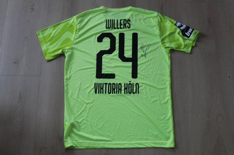 Viktoria Köln 2019/20 Third signiert, Nr. 24 Willers (Matchworn gg. Viktoria Köln II 15.10.19)