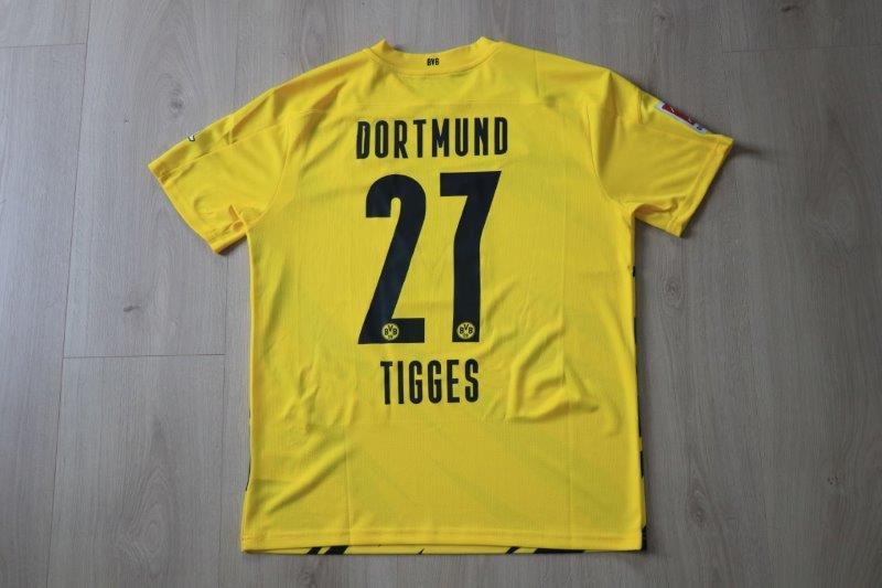 "Borussia Dortmund 2020/21 Sondertrikot ""Borussia verbindet"" Heim, Nr. 27 Tigges"
