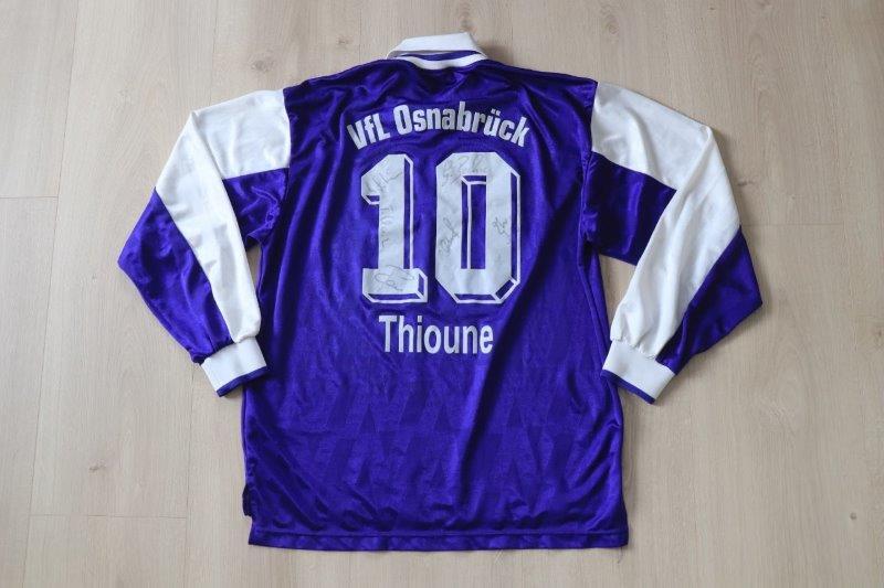 VfL Osnabrück 1998/99 Heim langarm kadersigniert, Nr. 10 Thioune (Matchworn Testspiel oder Vorbereitung)