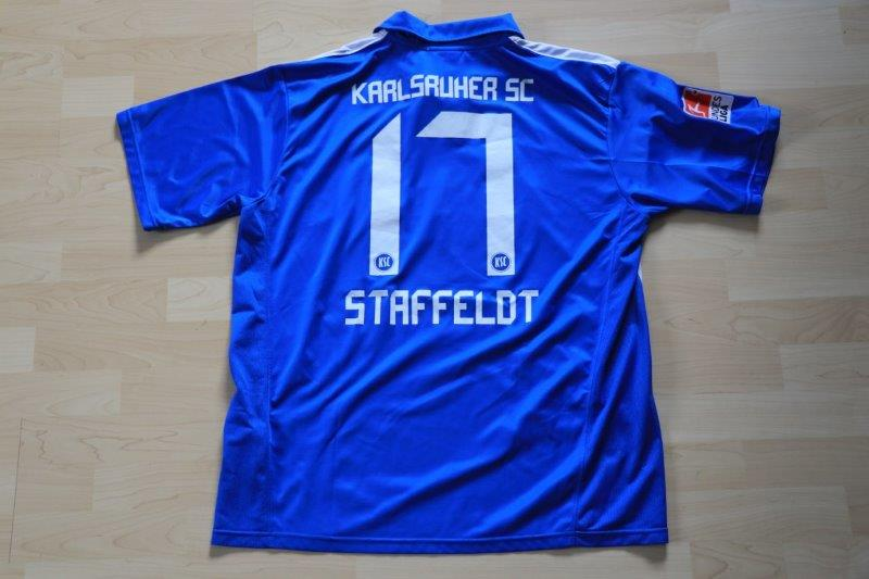 Karlsruher SC 2010/11 Heim, Nr. 17 Staffeldt (Matchworn)