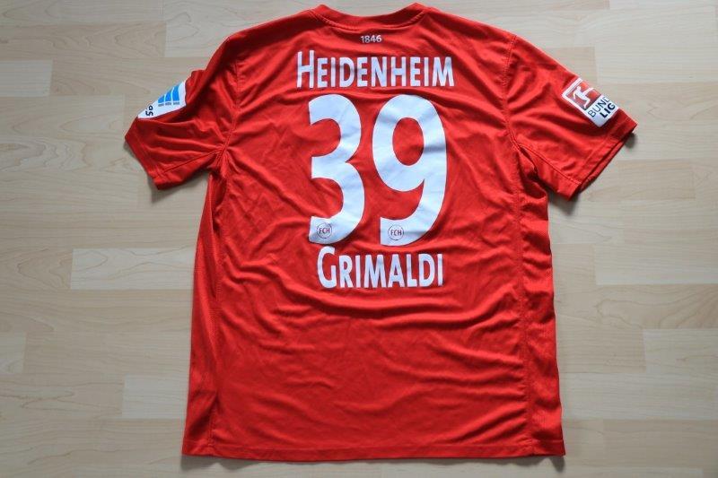 1. FC Heidenheim 2015/16 Heim, Nr. 39 Grimaldi (Matchworn gg. Sandhausen 21.08.15)