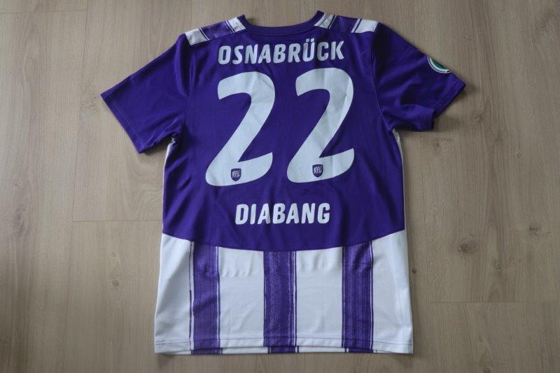 VfL Osnabrück 2010/11 Heim mit Autogramm, Nr. 22 Diabang (Matchworn DFB-Pokal gg. Kaiserslautern 13.08.10)