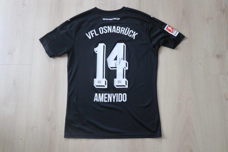 VfL Osnabrück 2020/21 Away signiert, Nr. 14 Amenyido (Matchworn Torschütze gg. 1. FC Heidenheim 25.10.20)