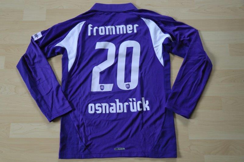 VfL Osnabrück 2007/08 Heim Langarm, 1.11.2007 gg. 1.FC Köln, Nr. 20 Frommer (Matchworn)