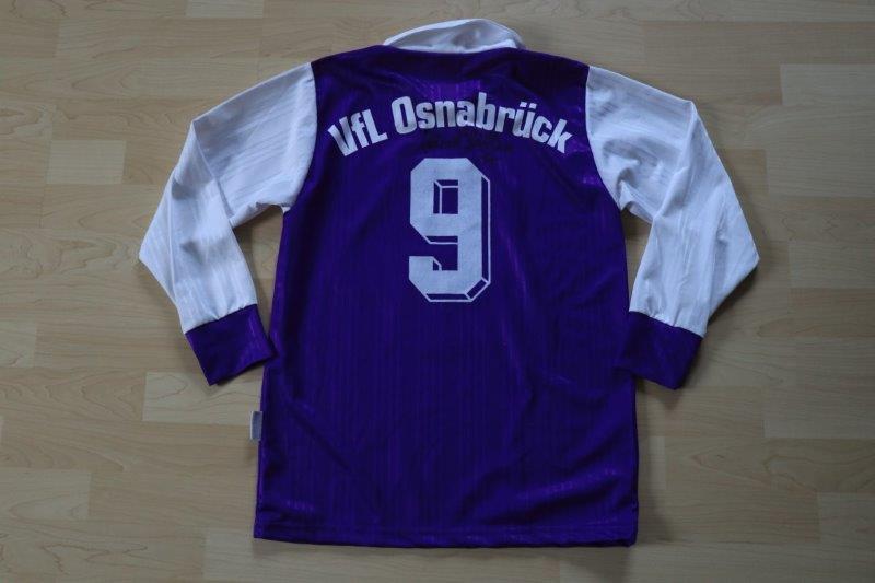VfL Osnabrück 1997/98 Heim Langarm mit Autogramm, Nr. 9 Janiak
