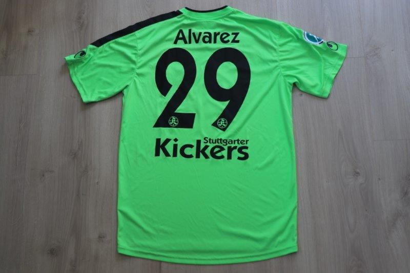 Stuttgarter Kickers 2013/14 Heim, Nr. 28 Álvarez (Matchworn)