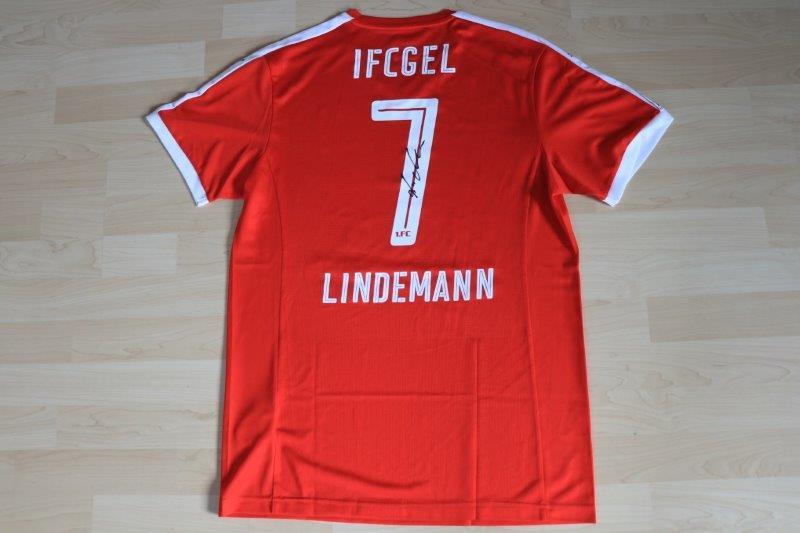 1. FC Germania Egestorf/Langreder 2017/18 Away mit Autogramm, Nr. 7 Lindemann