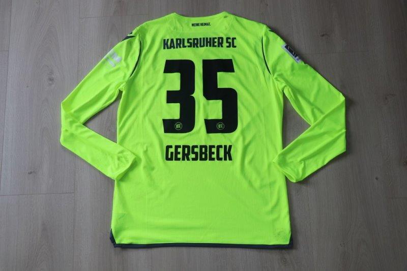"Karlsruher SC 2020/21 Sondertrikot ""Wildpark"", Nr. 35 Gersbeck (Matchworn gg. Würzburg 23.04.21)"