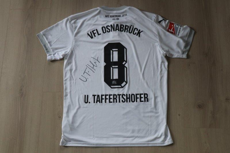 "VfL Osnabrück 2020/21 Sondertrikot ""Bremer Brücke"", Nr. 8 Taffertshofer"