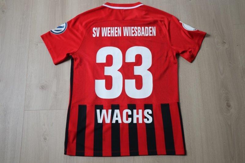 SV Wehen Wiesbaden 2018/19 Heim, Nr. 33 Wachs (DFB-Pokal Matchworn)
