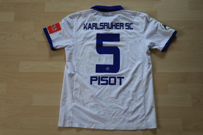 Karlsruher SC 2017/18 Heim, Nr. 5 Pisot (Matchworn, gg. Münster 21.10.17)