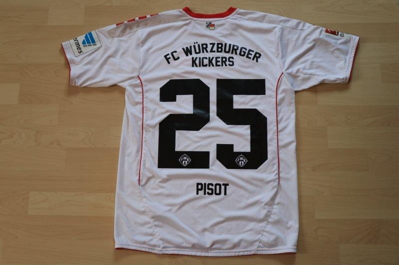 Würzburger Kickers 2016/17 Heim, Nr. 25 Pisot (Matchworn)