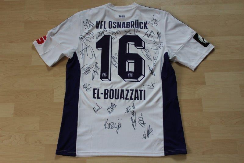 VfL Osnabrück 2016/17 Heim, Nr. 16 El-Bouazzati, mit Autogrammen (Matchworn)