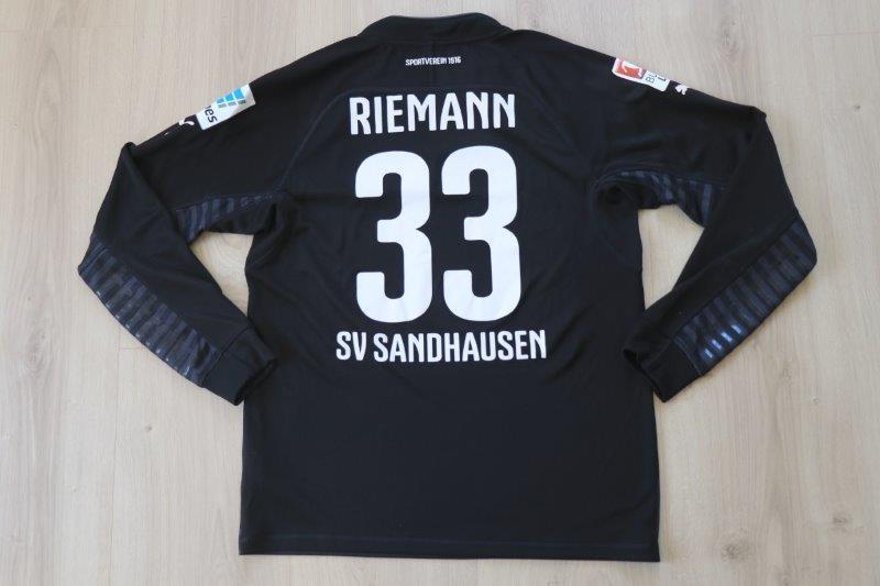 SV Sandhausen 2014/15 Torwart, Nr. 33 Riemann (Matchworn)