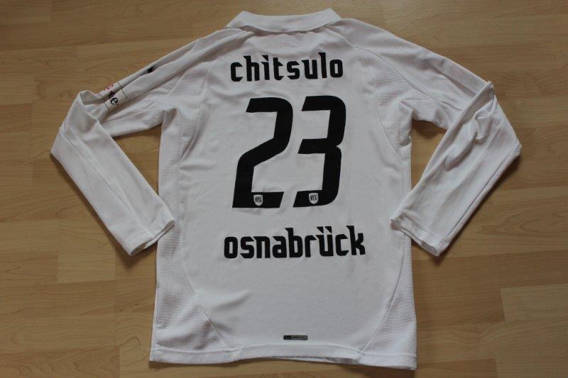 VfL Osnabrück 2007/08 Away Langarm, Nr. 23 Chitsulo (Matchworn)