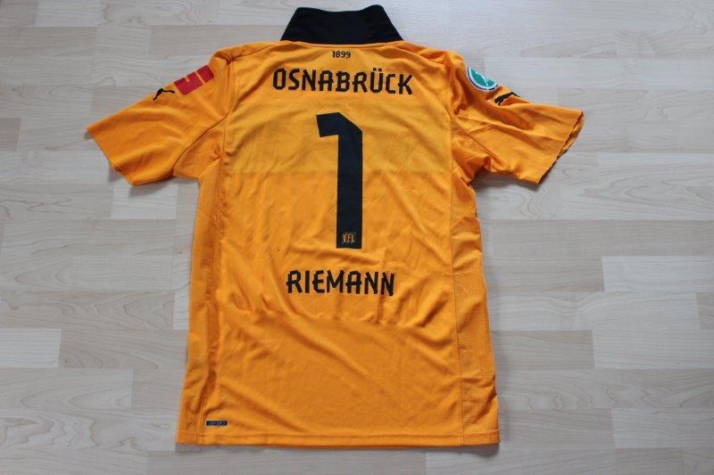 VfL Osnabrück 2012/13 Torwart, Nr. 1 Riemann (Matchworn aus dem Spiel Chemnitz - Osnabrück, 22.09.2012)
