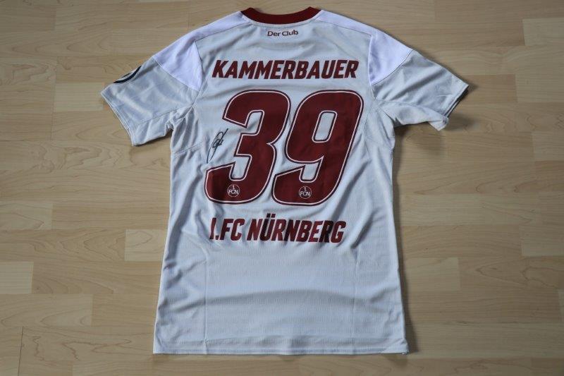 1.FC Nürnberg 2017/18 Away mit Autogramm, Nr. 39 Kammerbauer (Matchvorbereitet DFB-Pokal 2.Runde gg. VfL 25.10.17)