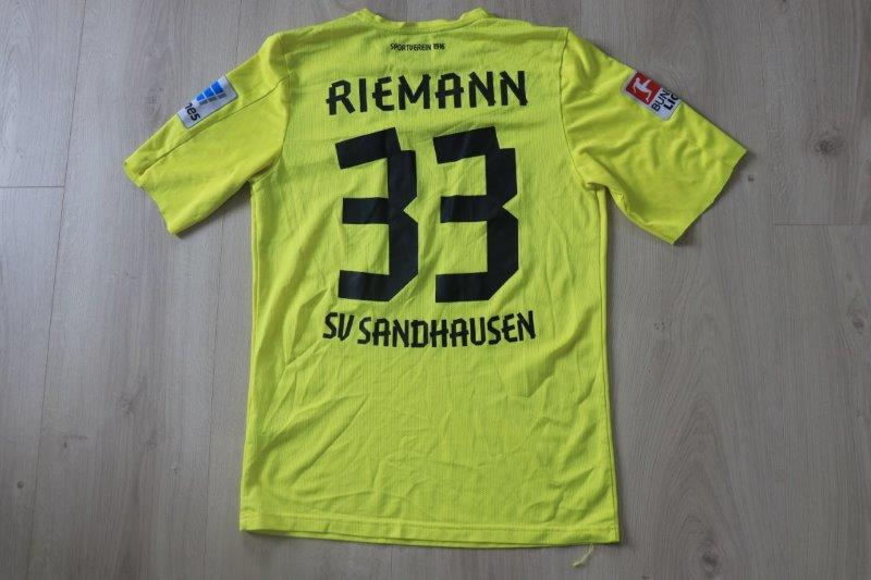SV Sandhausen 2013/14 Torwart, Nr. 33 Riemann (Matchworn)