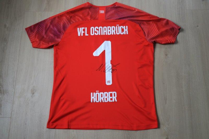 VfL Osnabrück 19/20 DFB-Pokal Torwart signiert, Nr. 1 Körber