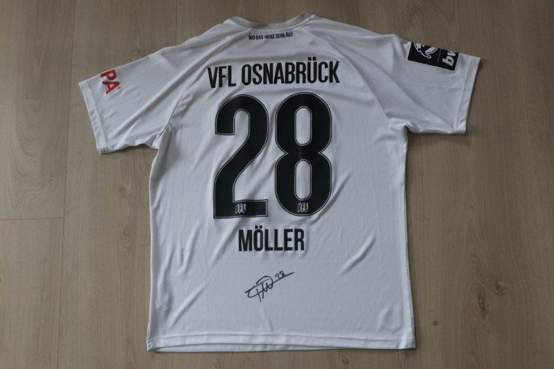VfL Osnabrück 2021/22 Third signiert, Nr. 28 Möller (Matchworn Saisonvorbereitung 2021/22)