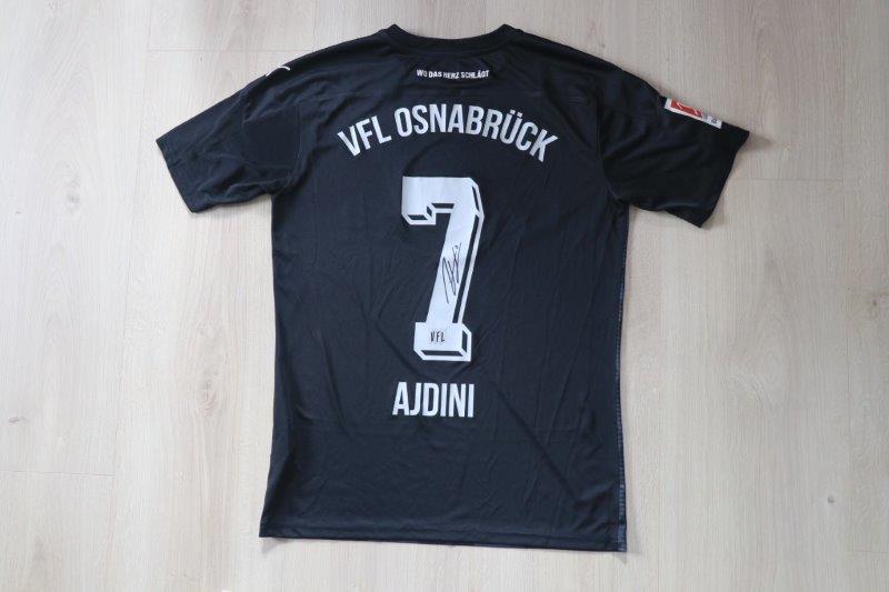 VfL Osnabrück 2020/21 Away signiert, Nr. 7 Ajdini (Matchworn Fanshopversion)