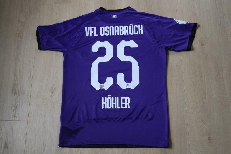 VfL Osnabrück 2019/20 Heim DFB-Pokal, Nr. 25 Köhler (Matchvorbereitet gg. RB Leipzig 11.08.19)