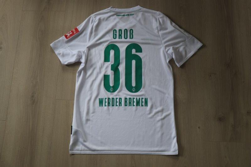 "SV Werder Bremen 2019/20 Away Sonderpatch ""Corona Warn-App"" Third, Nr. 36 Groß (Matchvorberitet gg. Mainz 20.06.20)"