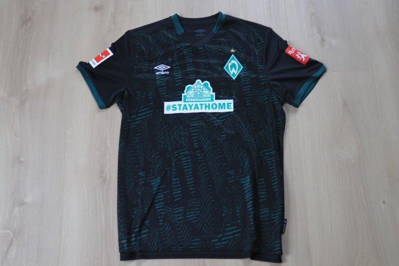 """SV Werder Bremen 2019-20 Sondertrikot """"#stayathome"""" Third, Nr. 36 Groß"""