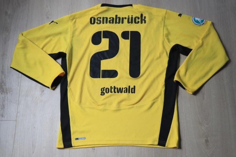 VfL Osnabrück 2009/10 Torwart, Nr. 21 Gottwald (Matchworn)
