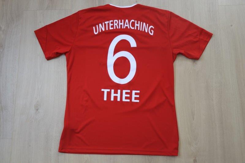 SpVgg Unterhaching 11-12 Heim, Nr. 6 Thee (Matchworn)