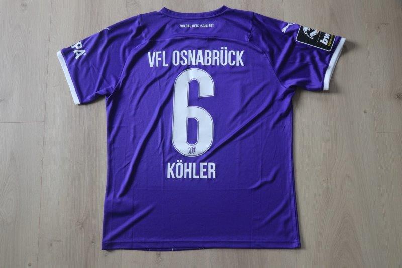 VfL Osnabrück 2021/22 Heim, Nr. 6 Köhler (Matchworn)