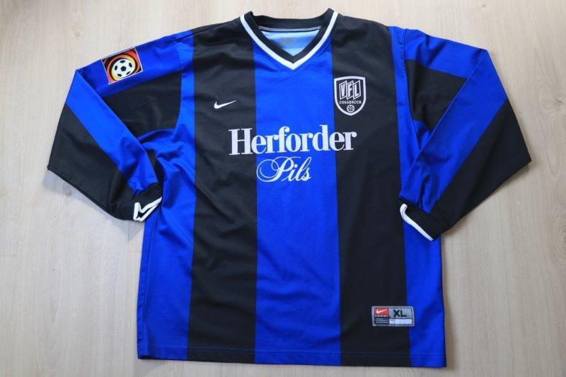 VfL Osnabrück 2000/01 Ausweichtrikot Langarm, Nr. 16 Plump (Matchvorbereitet für die Spiele gegen Duisburg und Ahlen)