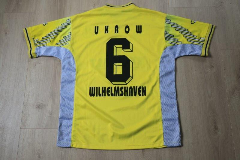SV Wilhelmshaven Heim signiert, Nr. 6 Ukrow (Matchworn)