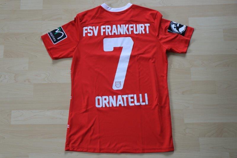 FSV Frankfurt 2016/17 Third mit Autogramm, Nr. 7 Ornatelli (Matchworn, gg. Magdeburg 06.05.17)