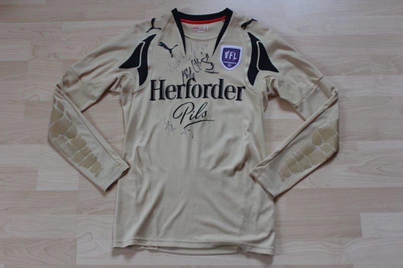 VfL Osnabrück 2007/08 Torwarttrikot, Nr. 1 Gößling mit Autogrammen