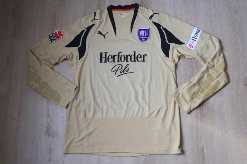 VfL Osnabrück 2008/09 Torwart mit Autogramm, Nr. 33 Wessels (vermutlich Matchworn aus Vorbereitungsspiel)