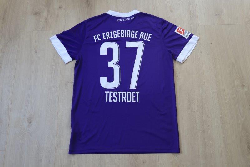 Erzgebirge Aue 19-20 Heim, Nr. 37 Testroet (Matchworn)