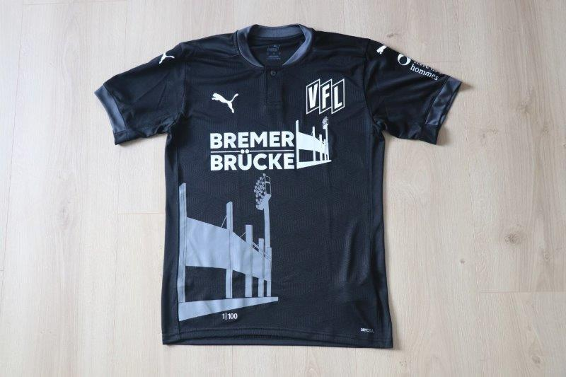 "VfL Osnabrück 2020/21 Sondertrikot Torwart ""Bremer Brücke"" (Nr. 1 von 100)"