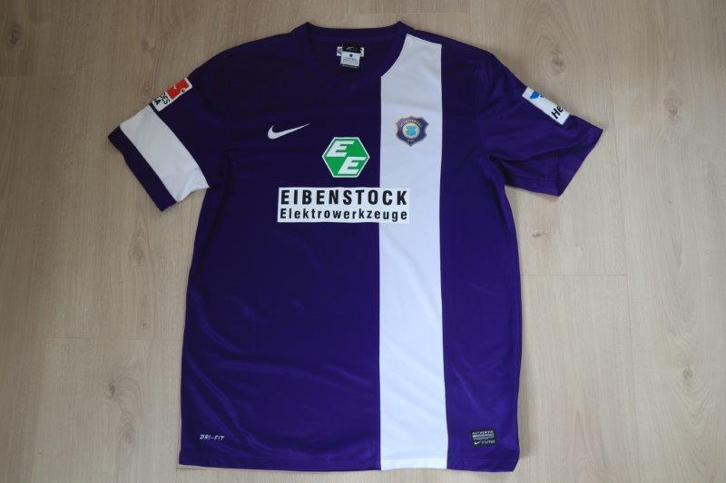 Erzgebirge Aue 2013/14 Heim, Nr. 3 Nickenig (Matchworn)