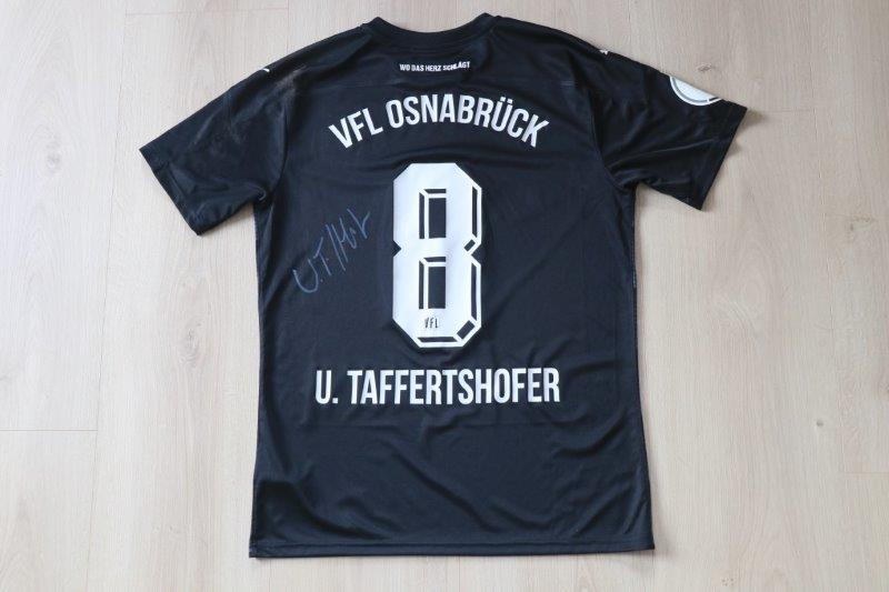 VfL Osnabrück 2020/21 Away signiert, Nr. 8 Taffertshofer (Matchworn DFB-Pokal gg. Köln 22.12.20)