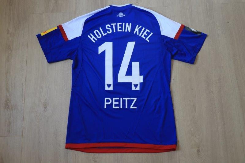 Holstein Kiel 2016/17 Heim, Nr. 14 Peitz (Matchworn/-vorbereitet)