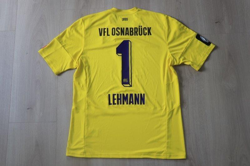 VfL Osnabrück 2016/17 Torwart, wo das Herz schlägt, Nr. 1 Lehmann (Matchworn oder -vorbereitet für Saisonvorbereitung)