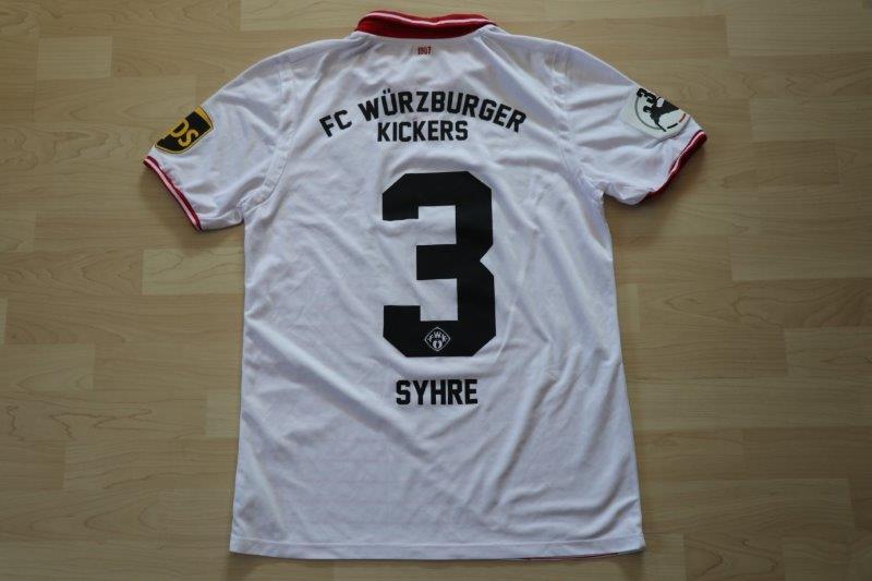 Würzburger Kickers 2017/18 Away, Nr. 3 Syhre (Matchworn)